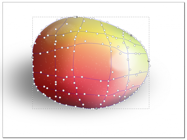 Jiggle the inner nodes and handles around to break up the grid-like pattern of colours.